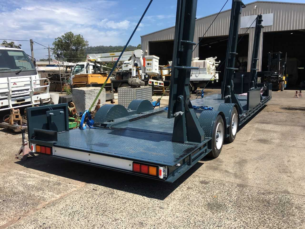 Swimming pool trailer carrier